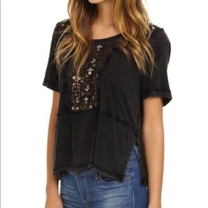 Free People Embellished Tee